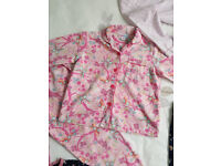 Girls flannel pyjama set 6 years