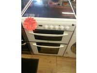 INDISiT 60CM WIDE DOUBLE OVEN ELECTRIC COOKER