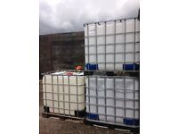 1000 Litre IBC Bulk Liquid Storage Containers Tank, Good Condition