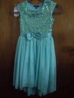 Girls Sequin Dress (EUC Girls Size 10 Zunie Boutique Dress Teal Green Sequin Tulle Party)