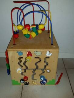 Wooden Activity Cube Geographe Busselton Area Preview