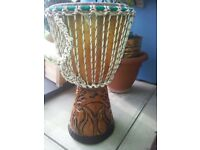 Traditional African djembe