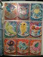 30 Pokemon TOPPS Cards + plastic protector sheets
