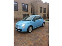 Fiat 500 pop 2012 top spec baby blue, very low milage 43,000 long Mot start/stop button bargain
