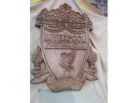 Liverpool FC hand made wood carved