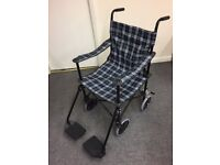Lightweight Travel Folding Wheelchair - Folds Easy for Transport