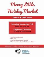 Merry little holiday market