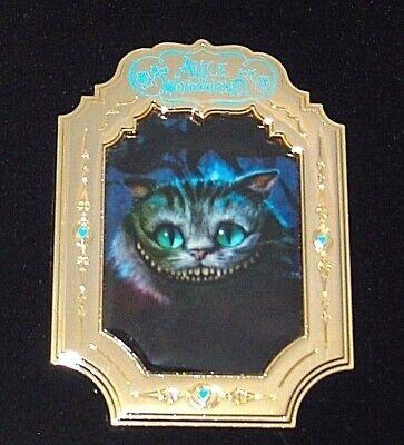 LE 100 Disney Pin✿Tim Burton Alice Wonderland Cheshire Cat Grin Photo Head Frame