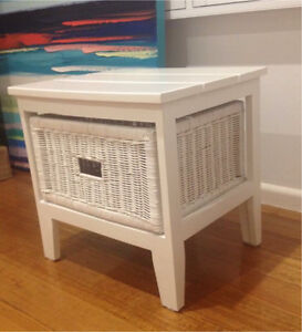 Adairs Cape Cod Style White Solid Timber Side Table Donvale Manningham Area Preview