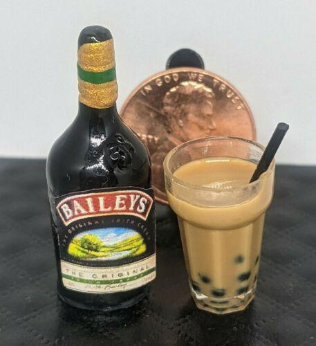 ! Dollhouse Miniature Baileys Irish Cream & Chocolate Coffee Groceries Prop 1:12