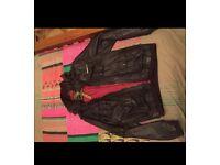 Men's Genuine Superdry brown leather jacket