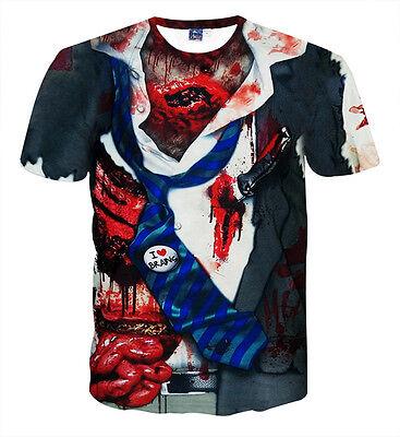 Unique Zombie Costumes (Zombie costume Suit & Tie T-Shirt [halloween different blood guts)