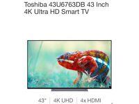"Brand new 43"" Toshiba Ultra HD 4K Smart TV"