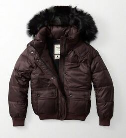 Brand New, with tags, Abercrombie & Fitch, Women's Puffer Jacket, 100% genuine.