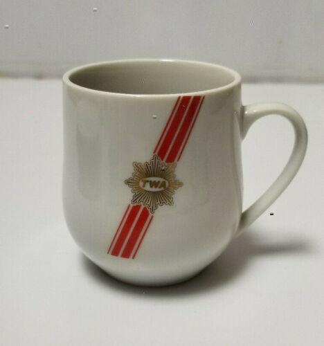 Vintage TWA Airline Cup Tea Coffee Ceramic