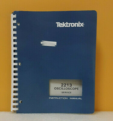 Tektronix 2213 070-3827-00 Oscilloscope Instruction Manual