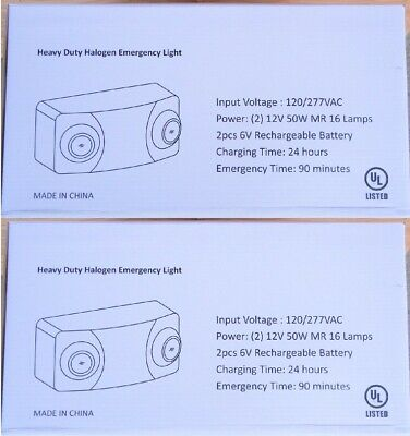 Lot Of 2 - Nib Isolite Heavy Duty Halogen Emergency Lights Teb4e50w-sd