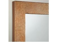 Fusion Hammered Square Brass Mirror NEW IN BOX FROM John Lewis RRP £125