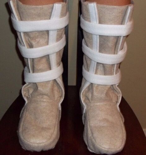 """Hoth """"Snow Boots"""" Shoe Covers for a Luke Skywalker or Han Solo Costume NEW FOOT"""