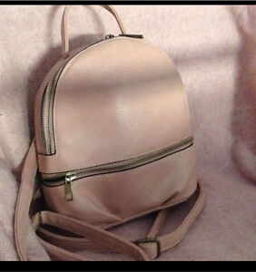 Powder pink Dangerfield faux leather mini backpack Glynde Norwood Area Preview
