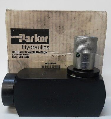 Parker Hydraulic Flow Valve Pcm1200s 3000 Psi 25 Gpm Pc M1200s