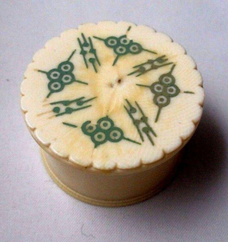 MADRAS Pin Cup, KAMA SUTRA surprise on inside ORIGINAL ANTIQUE c1800 VERY RARE!