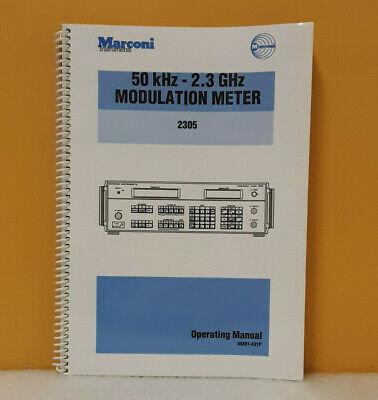 Marconi 46881-431p 50khz-2.3ghz 2305 Modulation Meter Operating Manual