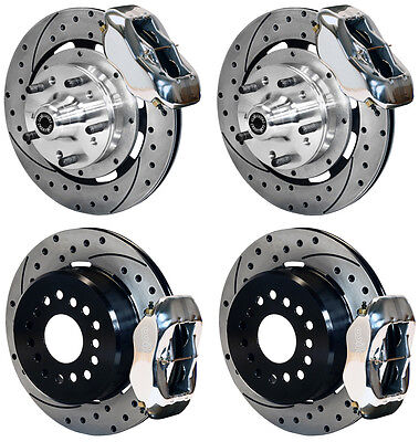 "WILWOOD DISC BRAKE KIT,65-72 CDP C-BODY,12"" DRILLED ROTORS,POLISH CALIPERS,LINES"