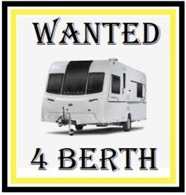 WANTED - 4 or 5 BERTH CARAVAN
