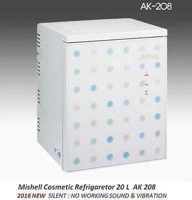 NEW Mishell Cosmetic Refrigerator 20 L AK 208 Silent Design & Smart Temp Control
