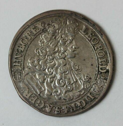 1702 KB Hungary Silver 1/2 Thaler Circulated Coin #75015JR