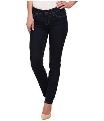 Levi's Womens 712 Slim Fit Mid Rise Dark Blue Jeans 25 x 30 $59.50 188840024 ANB