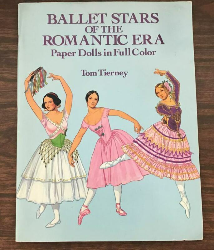 Ballet Stars of the Romantic Era Paper Dolls, Unused, Dover 1991