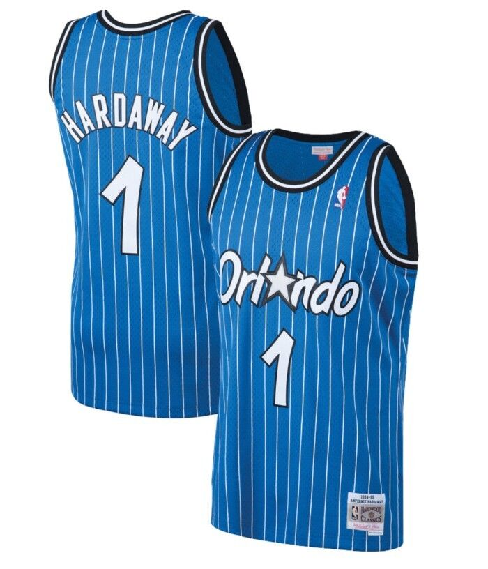 new style fff9a 71ff1 Details about Penny Hardaway #1 Orlando Magic Mitchell Ness Mesh NBA  Throwback Jersey Royal