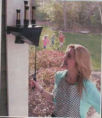 bellows train whistle - garden whistle - 4 tone. non-electric signal.