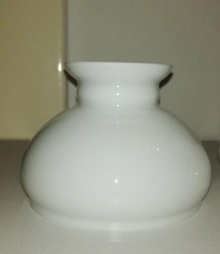 Petroleum Lampenschirm, Glas Schirm, 110 mm, Weiß