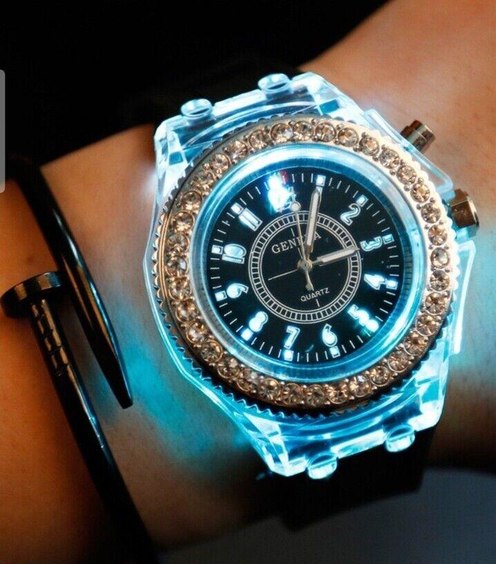 led light flash luminous watch personality trends