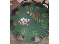 Poker board and chips