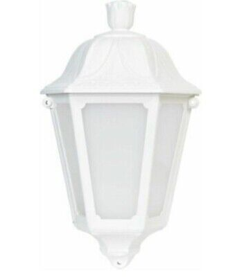 White outdoor wall light