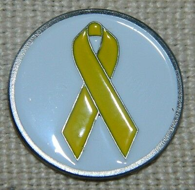 Support our Military Yellow Ribbon Golf Ball Marker + Free Bonus