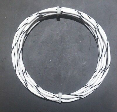 18 Awg Mil-spec Wire Ptfe Stranded Silver Plated Copper Type E Whtbk 10 Ft