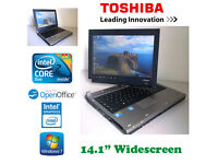 May Deliver - Toshiba Flip Screen Laptop/Tablet - Intel Core2Duo - 4Gb - 250Gb - Win7 - Office