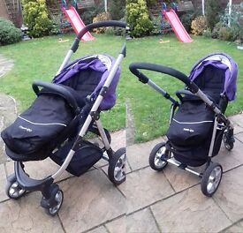 REDUCED Travel System by Mee-Go Pramette carry cot car seat footmuff bag