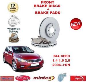 for kia ceed 1 4 1 6 2 0 dt crdi 2006 front brake discs disc pads set ebay. Black Bedroom Furniture Sets. Home Design Ideas
