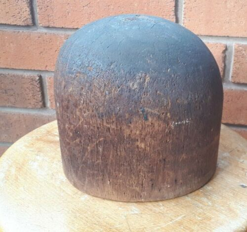 Nice ANTIQUE Wood Millinery Hat Block Mold ~ Form 21.5""