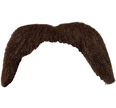 70er Jahre 1970er Kostüm Tash Zum Aufkleben Schnurrbart Braun Neu (70er Jahre Schnurrbart Kostüm)