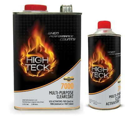 HIGH TECK 7000 HIGH GLOSS MULTI-PURPOSE CLEARCOAT GALLON KIT WITH MEDIUM ACT.