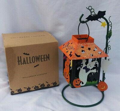Vintage Avon 2003 HALLOWEEN LANTERN Hanging Stand Ghost Pumpkins Bat BOO!! w/Box