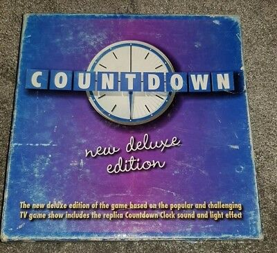 Countdown Game Clock - Countdown Board Game New Deluxe Edition. With Clock Sound And Light Effect. VGC.