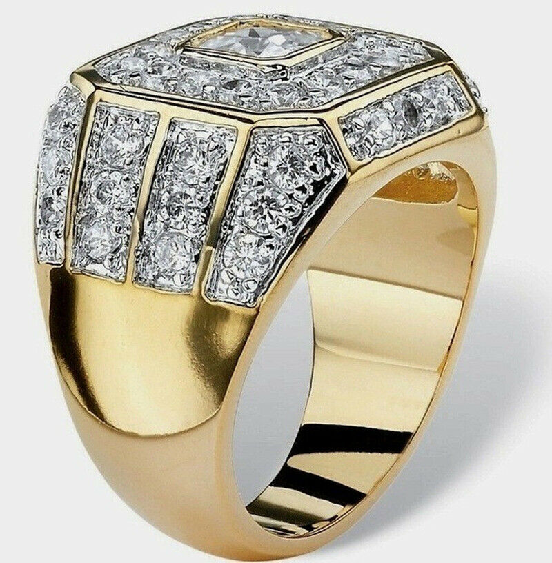 fashion men s inlay zircon crystal ring